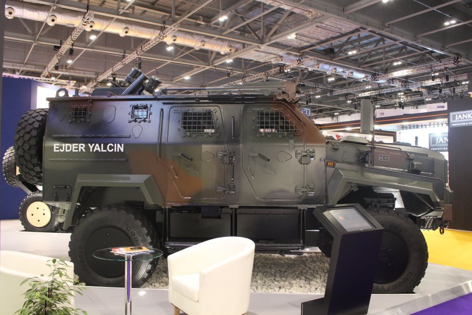 DSEI 2017 Nurol Makina showcases the NMS and the Ejder Yalcin 4x4 armored vehicles 925 002