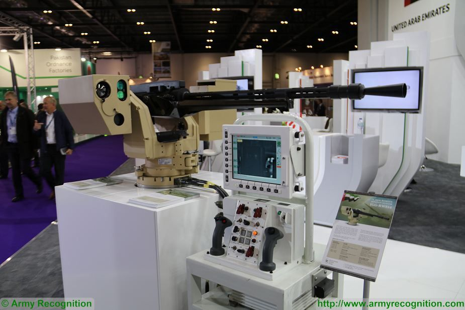 IGG RWS14 14 5mm remote weapon station DSEI 2017 defense security exhibition London UK 925 001