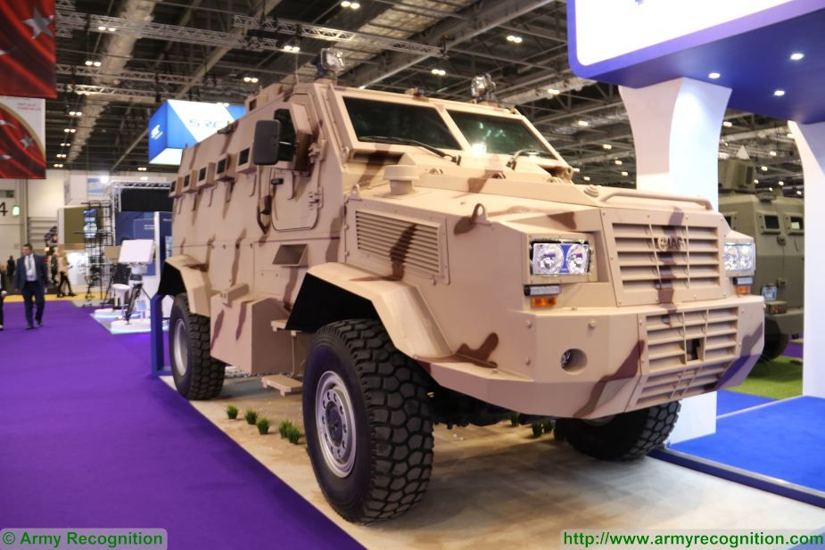 New IAG Rila 4x4 MRAP Mine Resistant Ambush Protected vehicle APC unveiled DSEI 2017 defense exhibition London UK 925 001