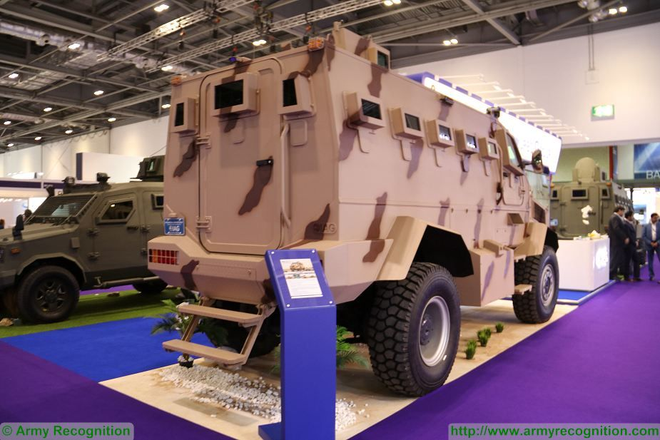 New IAG Rila 4x4 MRAP Mine Resistant Ambush Protected vehicle APC unveiled DSEI 2017 defense exhibition London UK 925 002