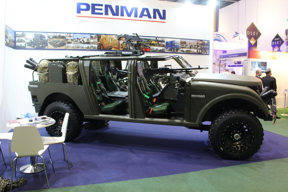 Penman unveils a range of new multirole vehicles at DSEI 2017 925 001
