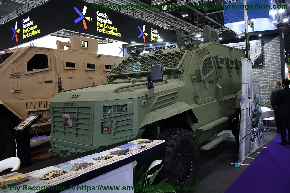IAG presents 4x4 Guardian Xtreme MRAP Mine Resistant Ambush Protected vehicle DSEI 2019 925 001µ