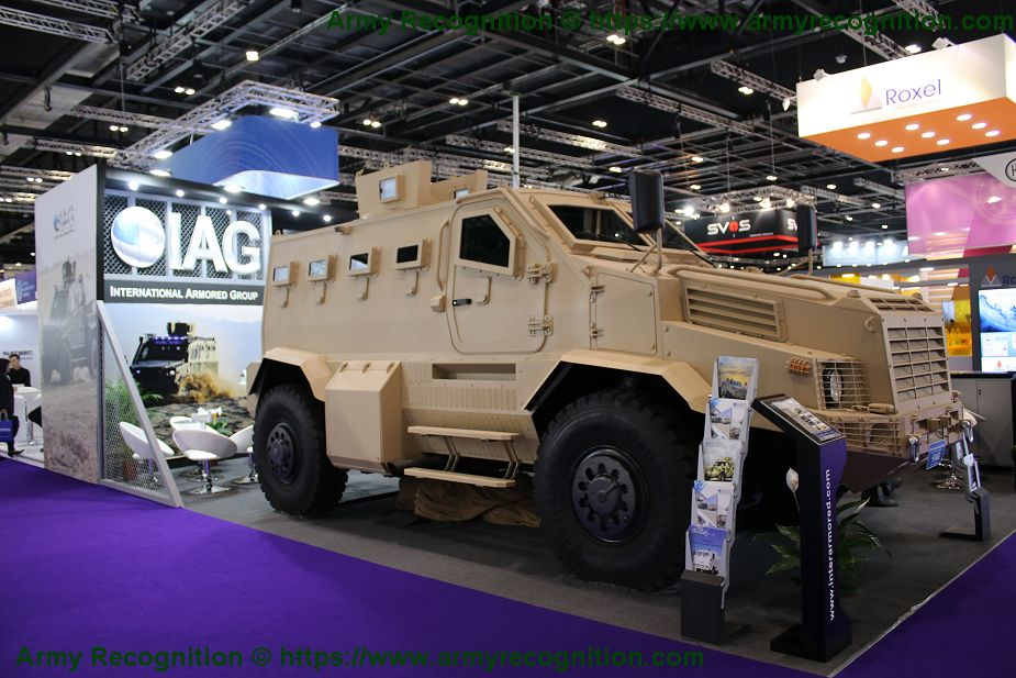 IAG unveils new 4x4 RILA Xtreme MRAP Mine Resistant Ambush Protected vehicle DSEI 2019 925 001