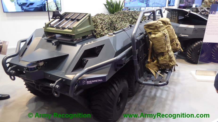 Latest addition to Rheinmetall Mission Master UGV family on display for the first time