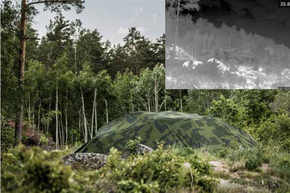 SAAB unveils ARCASe Advanced Reversible Camouflage Screen emissive 925 001