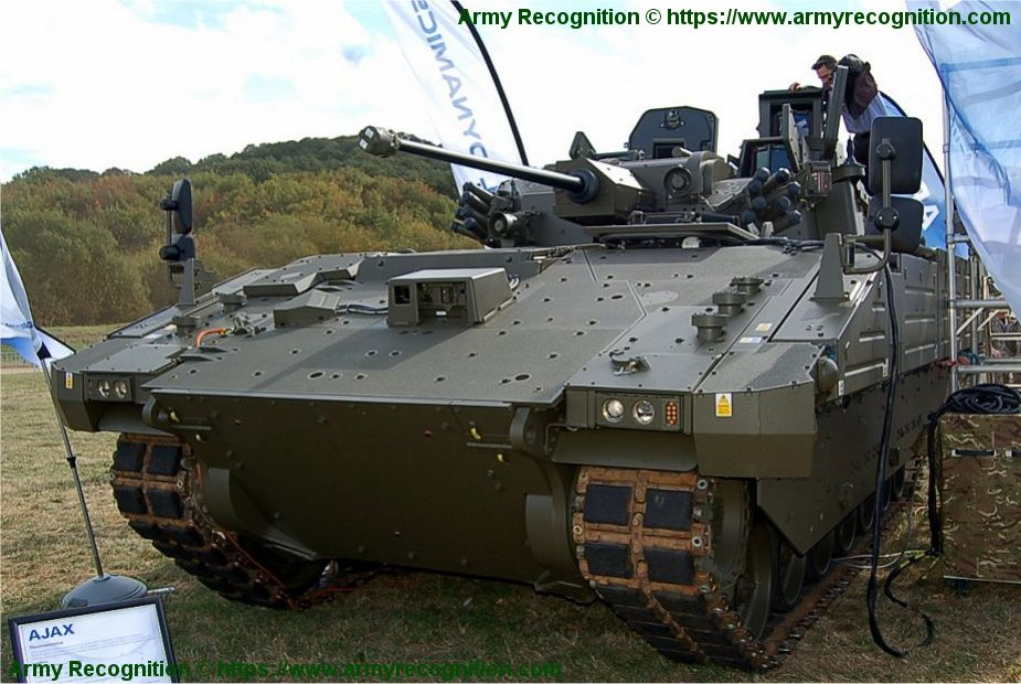 Ajax reconnaissance ISTAR tracked armored vehicle General Dynamics United Kingdom British army 925 001
