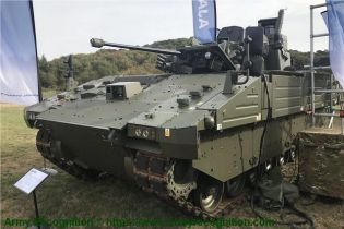Ajax reconnaissance ISTAR tracked armored vehicle General Dynamics United Kingdom British army left side view 001