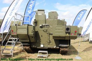 Ajax reconnaissance ISTAR tracked armored vehicle General Dynamics United Kingdom British army rear view 001
