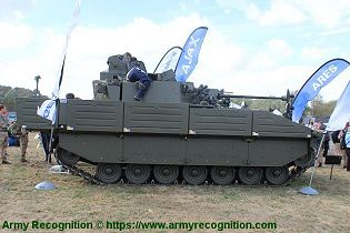 Ajax reconnaissance ISTAR tracked armored vehicle General Dynamics United Kingdom British army right side view 001