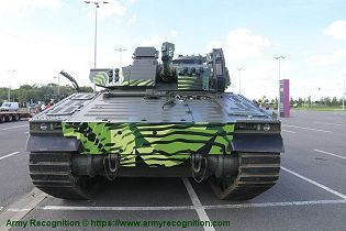 CV 90 Mk IV IFV tracked armored Infantry Fighting Vehicle BAE Systems front view 001