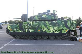 CV 90 Mk IV IFV tracked armored Infantry Fighting Vehicle BAE Systems left side view 001