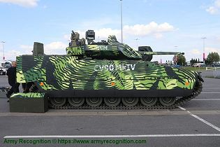 CV 90 Mk IV IFV tracked armored Infantry Fighting Vehicle BAE Systems right side view 001