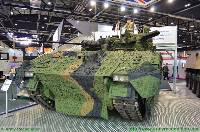 Ajax Scout SV CT40 40mm automatic cannon two-man turret General Dynamics UK 640 001