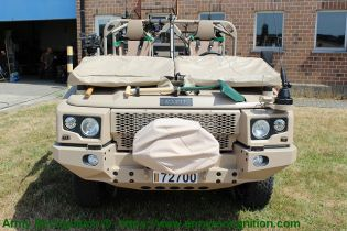 FOX RRV Rapid Reaction Vehicle Jankel 4x4 light tactical vehicle United Kingdom industry front view 002