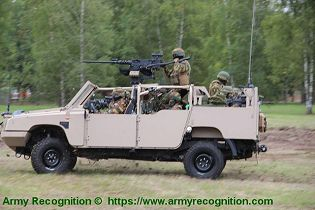 FOX RRV Rapid Reaction Vehicle Jankel 4x4 light tactical vehicle United Kingdom industry left side view 002