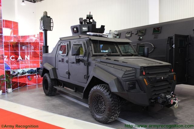 AZCAN Sentry ISR variant at ADEX 2016