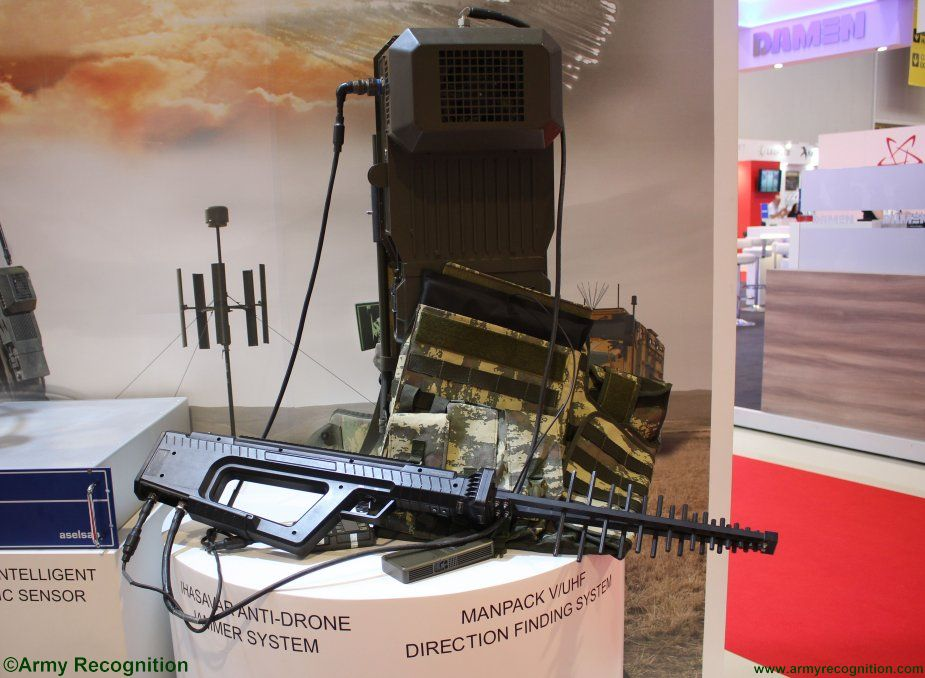 ADEX 2018 Aselsan s IHASAVAR anti drone gun entered service with Azerbaijani Air Force