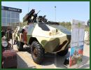 The Azerbaijani Ministry of Defense Industry presents for the first time to the public, a modernized version of the Soviet-made BRDM-2, wheeled armoured vehicle personnel carrier, called ZKDM. This upgraded vehicle provides more protection and fire power than the standard BRDM-2.