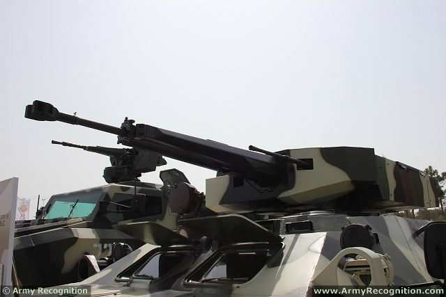 At the International Defense Industry Exhibition ADEX 2014 in Azerbaijan, the national Ministry of Defence Industry unveils an upgrade of Soviet-made BTR-70 8x8 armoured vehicle personnel carrier fitted with the Simsek weapons platform.
