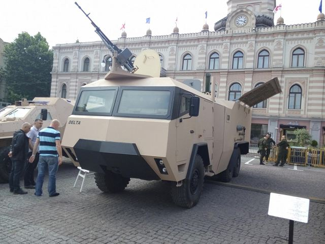 GMM-120 120mm 6x6 wheeled self-propelled mortar carrier Delta Georgia Georgian defense industry 640 001