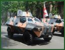 Georgian Armed Forces presents during the military parade in Tbilisi, May 26, 2011, a new military vehicle, created in Georgia, the Didgori. After the infantrymen who have already served in Iraq and Afghanistan, the military vehicles were demonstrated at the parade.