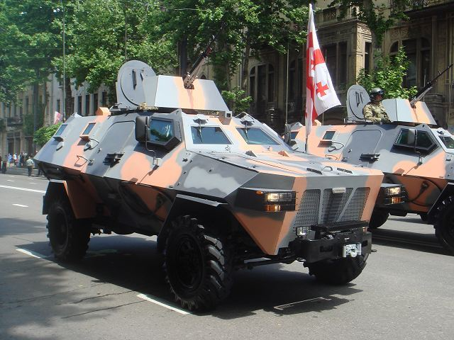 Didgori-2 4x4 wheeled armoured vehicle personnel carrier Georgia Georgian army military equipment defense industry 640 001