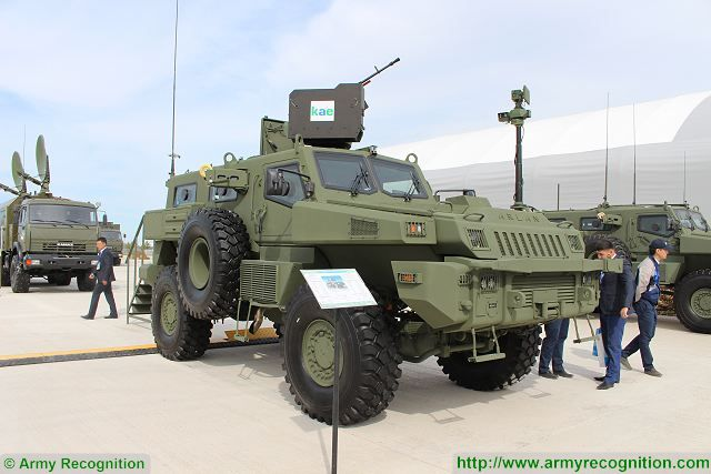 Arlan APC 4x4 armoured personnel carrier Aselsan SARP RWS 12-7mm machine gun KADEX 2016 Astana Kazakhstan 001
