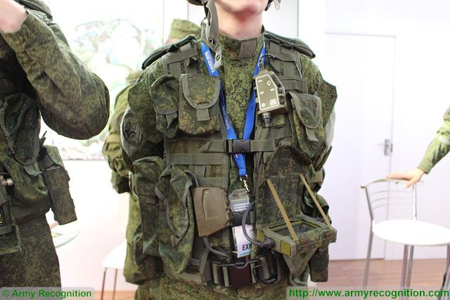 "The Russian Company Radioavionica presents latest generation of communication and observation equipment which is now integrated to the Russian Future soldier project ""Ratnik"". The whole system of Radioavionica called 83T215I includes operation control console, telephone microphone headset, multifunctional console, satellite navigation system module, power supply container, hardware box and individual charger."