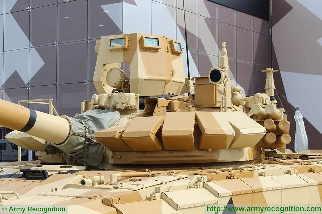 Reactive armour kit is mounted at the front on each side of the turret and the hatch of the commander is protected with armour plates on 360°.