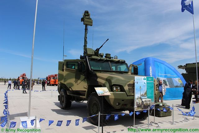 reconnaissance vehicle Strela Almaz-Antey KADEX 2016 defense exhibition Astana Kazakhstan 001