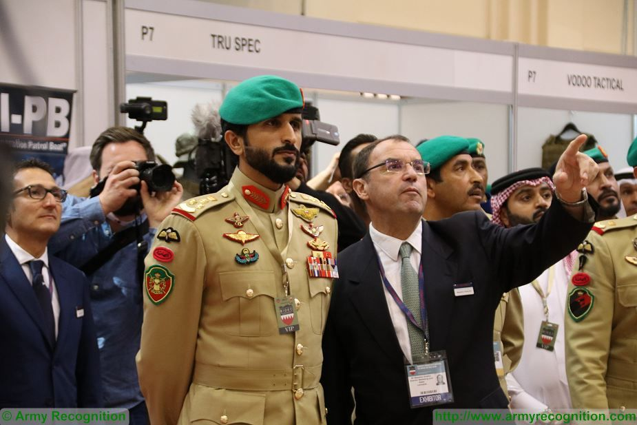 His Highness Sheikh Nasser bin Hamad Al Khalifa Opening of BIDEC 2017 first edition of Bahrain defense Exhibition 925 001