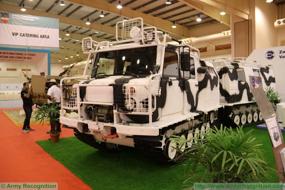 Russian All Terrain Tracked Vehicle GAZ 334 20 at BIDEC 2017 first edition of Bahrain defense Exhibition 925 001