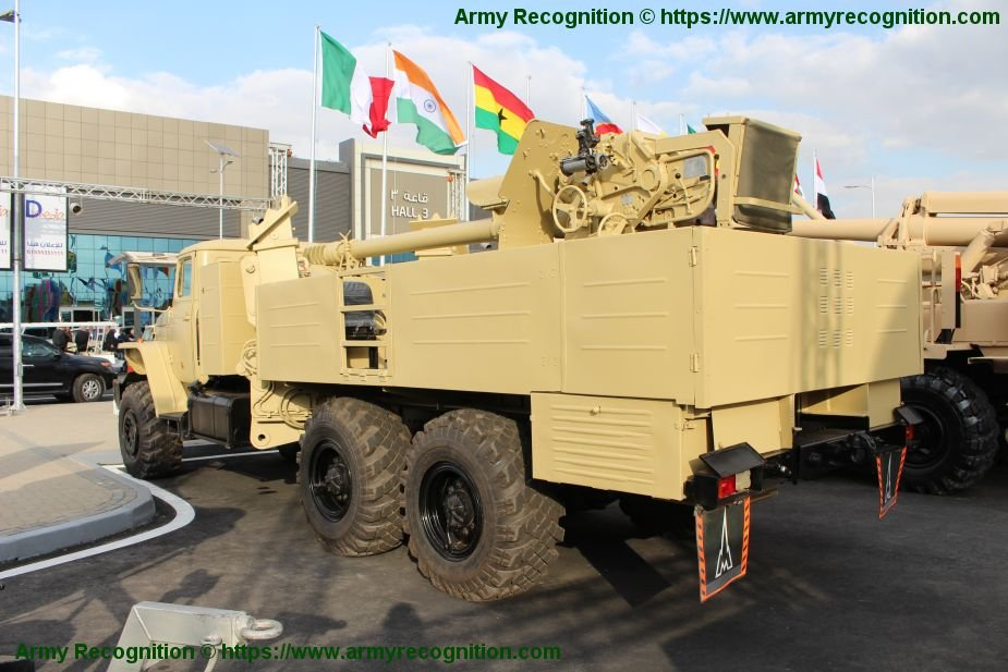EDEX 2018 Egyptian made D 30 wheeled self propelled howitzer 2