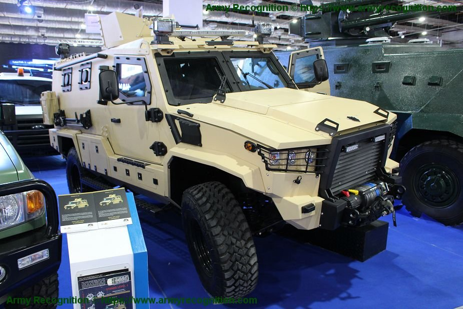 EDEX 2018 TAG Terrier LT 79 armored vehicle for law enforcement