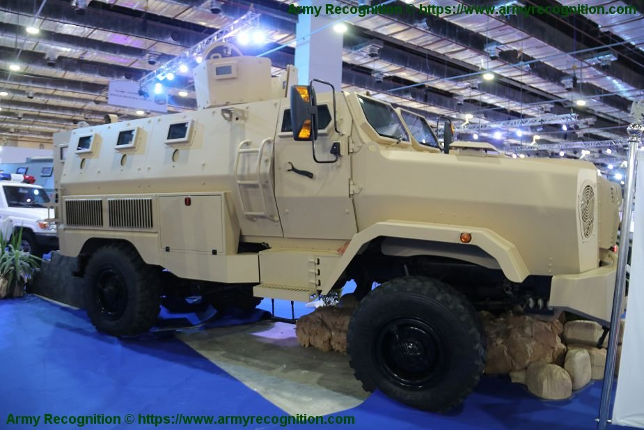 EDEX 2018 Temsah MRAP 4x4 APC developed by Egyptian MoD