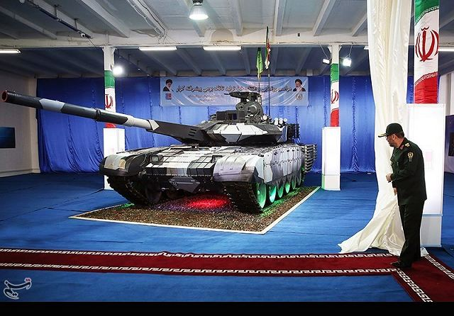Karrar Striker MBT main battle tank Iran technical data sheet specifications description information intelligence identification pictures photos video air defence system Iranian army defence industry military technology