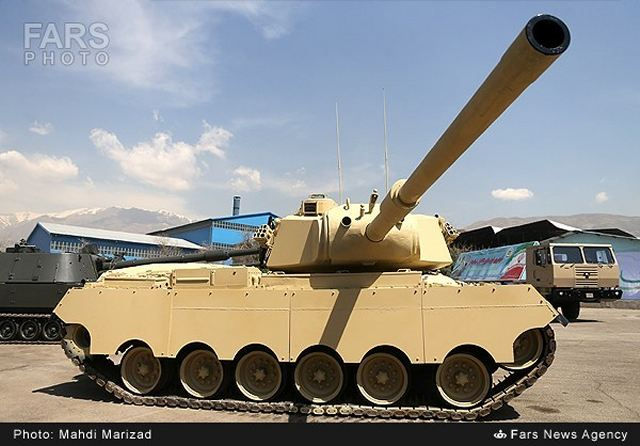 The Iranian Army has unveiled another home-made main battle tank, dubbed as Sabalan, during a ceremony in Tehran, April 20, 2014. The new main battle tank was unveiled by the Brigadier General Ahmad Reza Pourdastan.