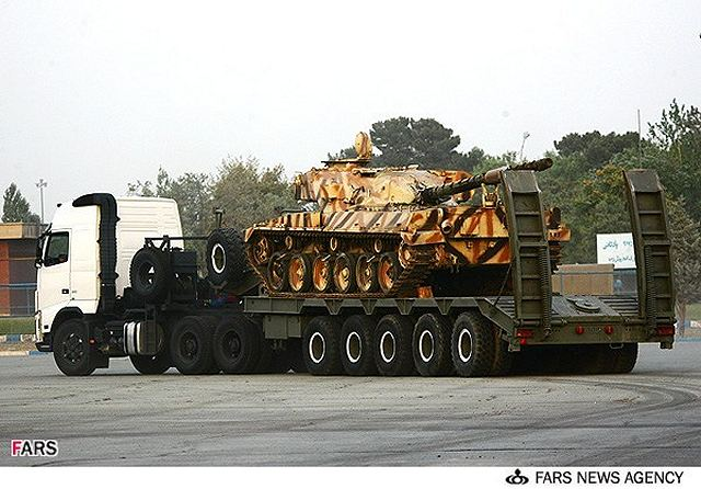 "Iran has unveiled a new tank transporter named ""Sayyad"" designed and manufactured by the Iranian Army's Ground Forces at a ceremony attended by Commander of the Iranian Army's Ground Forces Brigadier General Ahmad Reza Pourdastan."
