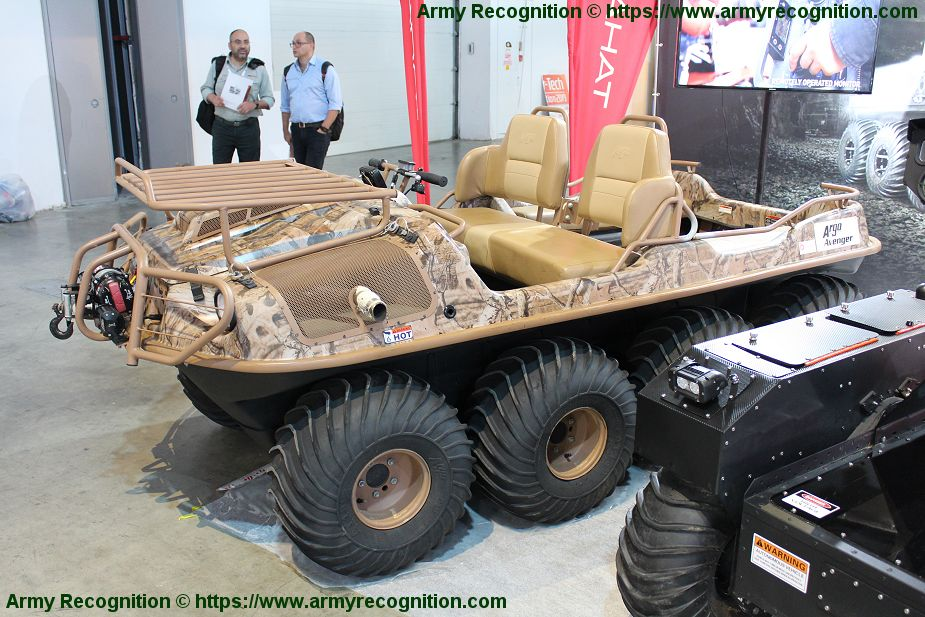 Gahat Robotics presents Argo UGV amphibious all terrain vehicle ISDEF 2019 Israel 925 001