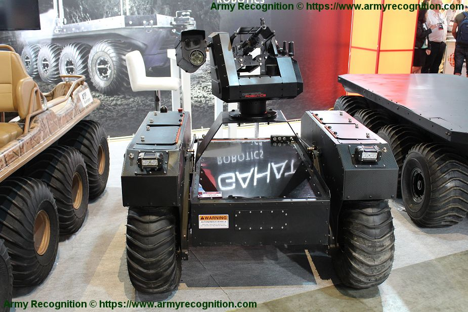 Gahat Robotics presents Argo UGV amphibious all terrain vehicle ISDEF 2019 Israel 925 002