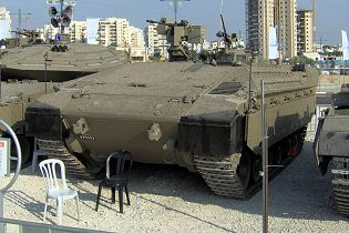 Namer infantry tracked armoured vehicle personnel carrier Israeli Army Israel front view 003