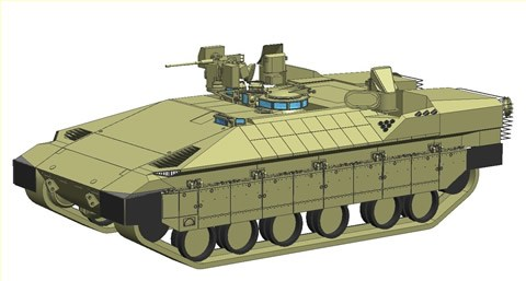 Namer infantry tracked armoured vehicle personnel carrier Israeli Army Israel line drawing blueprint 001