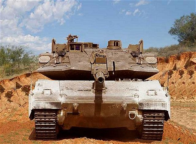 Latest generation of Merkava 4 of IDF Israeli Defence Forces with Trophy active protection system