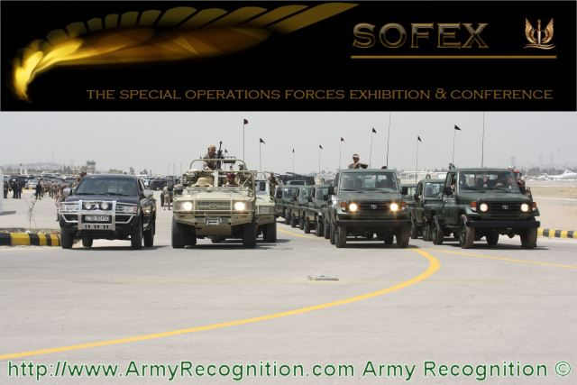 Army Recognition Company is proud to announce that we have been selected as official Media Partner and official Online Daily News for SOFEX 2012, The Special Operations Forces Exhibition & Conference, which will be held from the 8 – 10 May 2012, in Amman, Jordan.