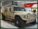 Navistar Defense is showcasing the International variant of its Saratoga light-weight, multipurpose vehicle at Jordan's Special Operations Forces Exhibition & Conference (SOFEX). The Saratoga is also Navistar's offering for the US Army JLTV programme.