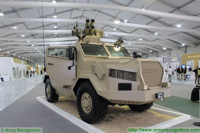 Al-Wahsh 4x4 APC armoured personnel carrier SOFEX 2016 Special Operations Forces Exhibition 001