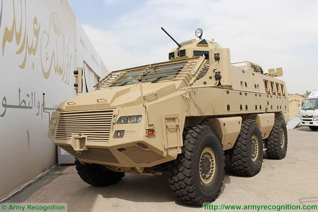 Mbombe 6x6 APC KADDB turret SOFEX 2016 Special Operations Forces Exhibition Amman Jordan 640 001