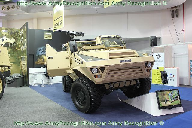 At the Defence and Aerospace Exhibition in Kuwait, GDA 2011, the French Defence Company Acmat presents for the first time a new range of wheeled armoured vehicle which is based on the armoured personnel carrier Acmat BASTION but with open top crew compartment, the BASTION PATSAS.
