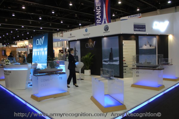 At IDEX 2011 French shipbuilder CMN is presenting for the first time a new stealth corvette concept, the Combattante 65S.