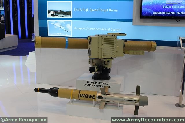 The Ingwe is a modern South African multi-role laser guided anti-tank guided missile (ATGM) manufactured by Denel Dynamics.